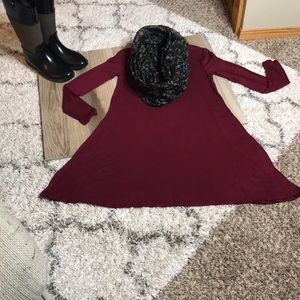 Old Navy Wine Colored Long Sleeved Dress.